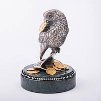 """Фигура """"Попугай на кошельке с монетами"""""""