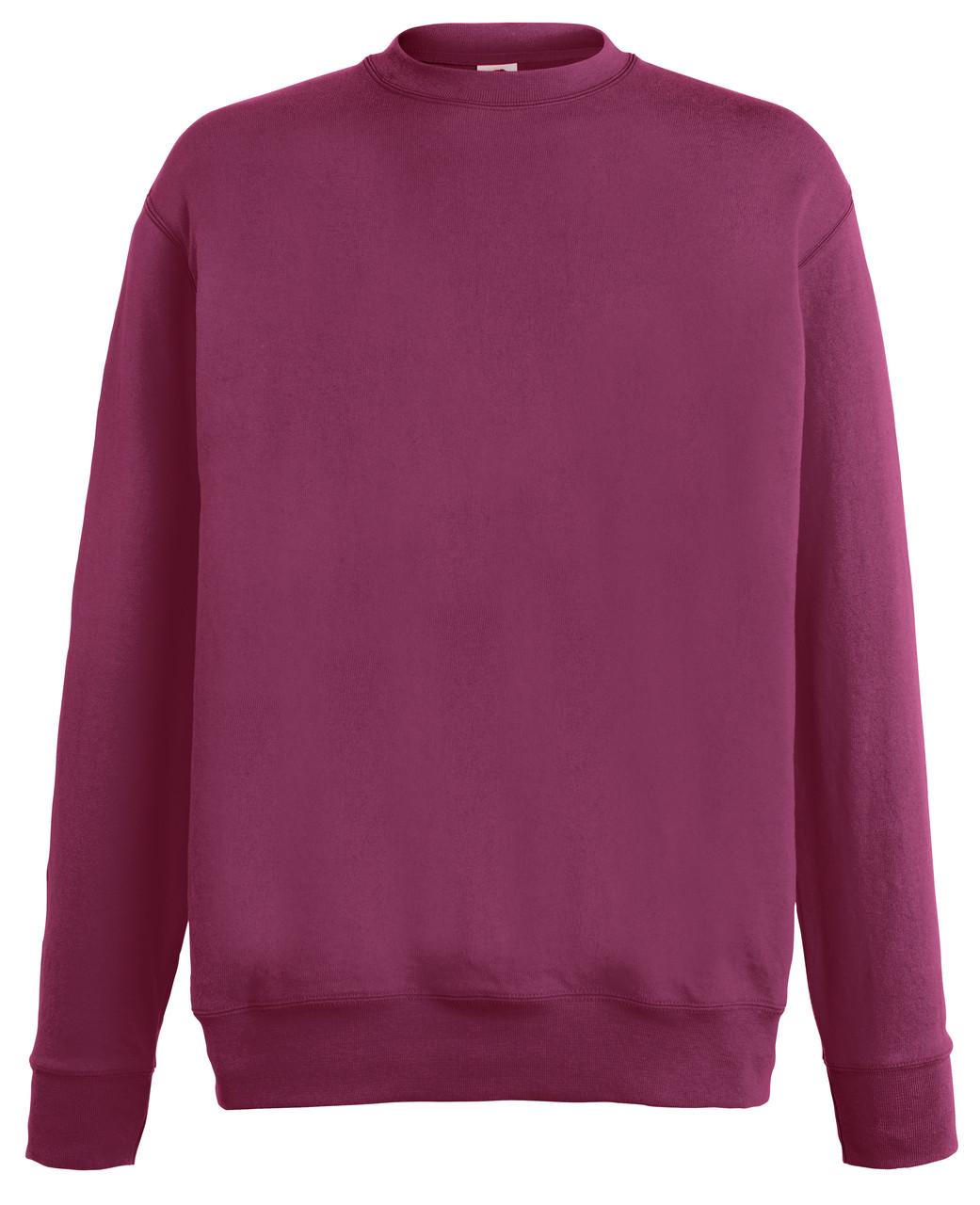 Мужской лёгкий свитер Бордовый Fruit Of The Loom  62-156-41  S