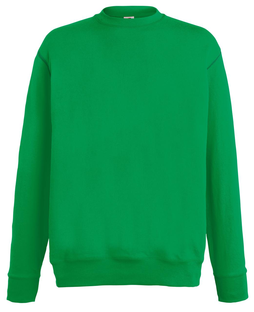 Мужской лёгкий свитер Ярко-зелёный  Fruit Of The Loom  62-156-47  S