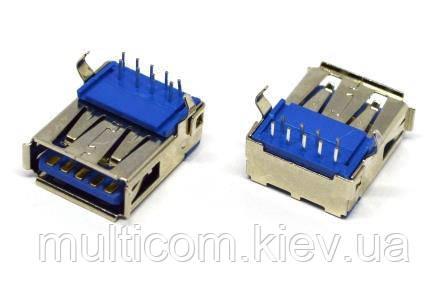 01-08-041. Гнездо USB 3.0 тип А монтажное, 90°