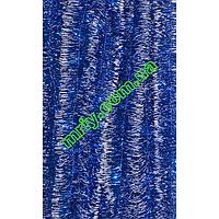 Новорічна мішура Д5 деш синій