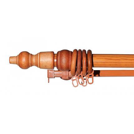 Карниз с деревянной фурнитурой черешня, фото 2