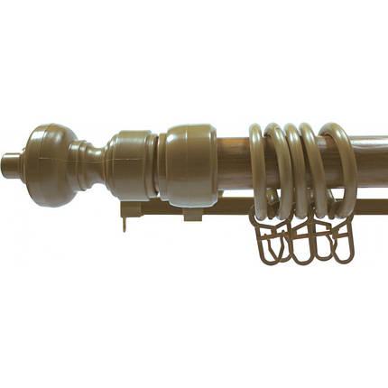 Карниз с пластиковой фурнитурой дуб золотой, фото 2