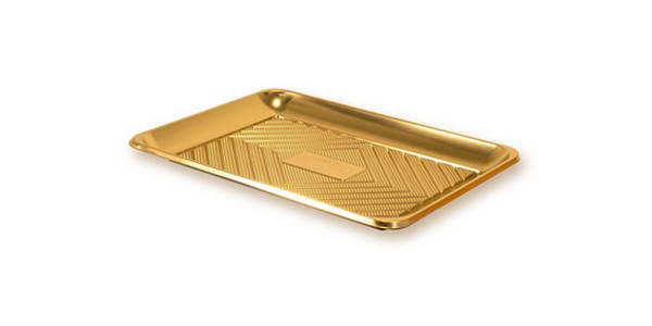 Піднос для торта прямокутний золотий КADO 32 х 22 см , фото 2