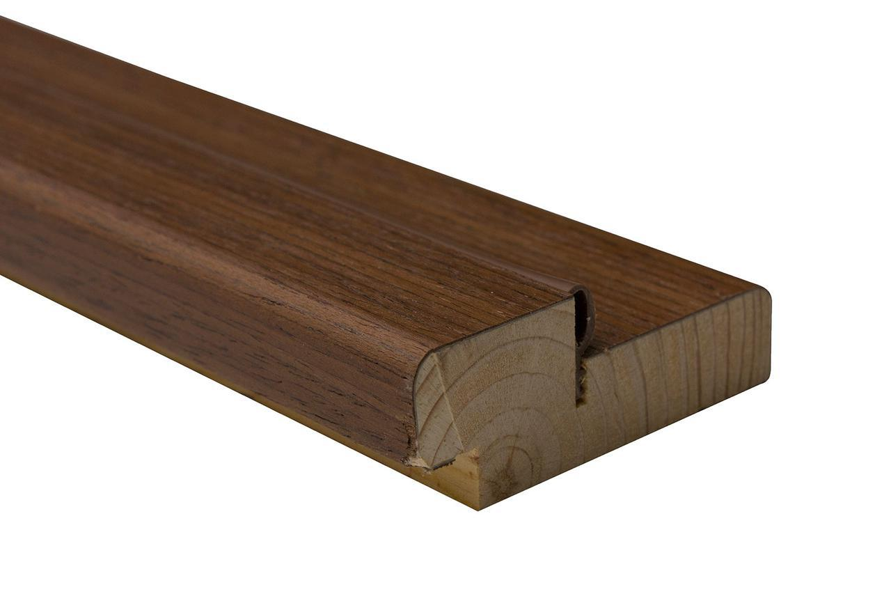 Коробка сосна шпон 75х30 мм орех