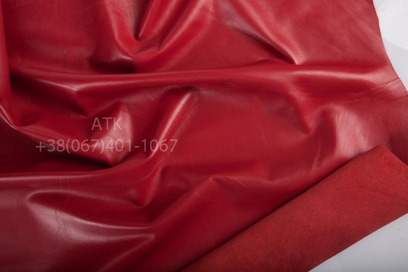 Кожа одежная наппа красная