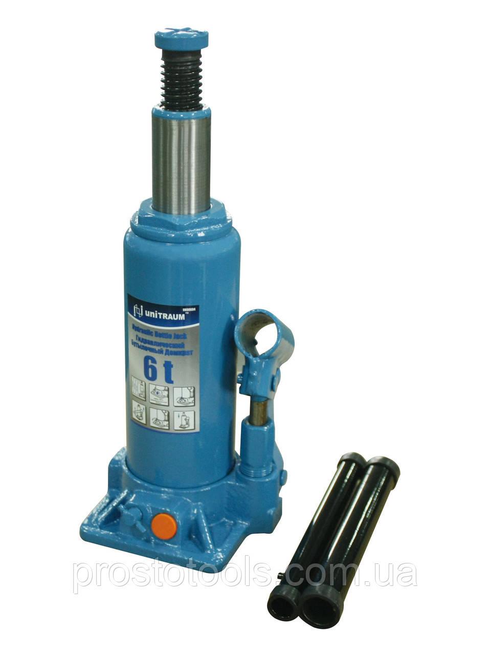 Домкрат бутылочный гидравлический 6т Unitraum  UN90604
