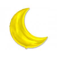"""Фольгированный шар """"Луна Золото"""" 65 см."""