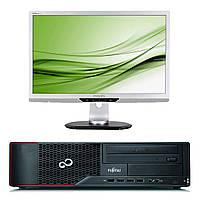 Fujitsu E900 / Intel Core i5-2400 (4 ядра по 3.1GHz) / 4GB DDR3 / 250GB HDD + монитор PHILIPS 220P2 / 22' / 1680x1050