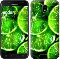 """Чехол на Samsung Galaxy J5 J530 (2017) Зелёные дольки лимона """"852c-795-601"""""""
