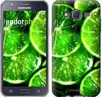 """Чехол на Samsung Galaxy J5 (2015) J500H Зелёные дольки лимона """"852c-100-601"""""""