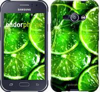 """Чехол на Samsung Galaxy J1 Ace J110H Зелёные дольки лимона """"852c-215-601"""""""