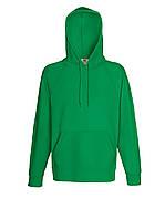 Мужская лёгкая толстовка с капюшоном Ярко-зелёная Fruit Of The Loom 62-140-47 L