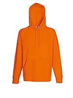 Мужская лёгкая толстовка с капюшоном Оранжевая Fruit Of The Loom 62-140-44 Xl