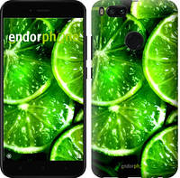 """Чехол на Xiaomi Mi 5X Зелёные дольки лимона """"852c-1042-601"""""""