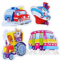 Мягкие Пазлы Пазл Машины - Помощники Vladi Toys 16 эл.набор из 4-х пазлов, VT1106-08, 004178