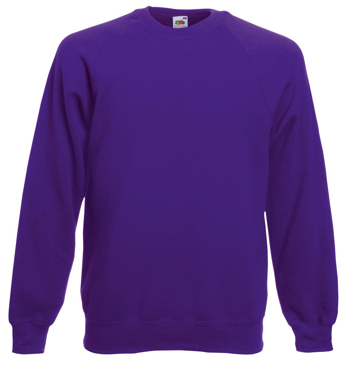 Мужской Классический Реглан Фиолетовый Fruit Of The Loom 62-216-Pe L