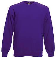 Мужской Классический Реглан Фиолетовый Fruit Of The Loom 62-216-Pe L, фото 1