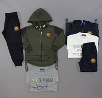 Трикотажный  костюм - тройка для мальчиков S&D оптом, 98-128 рр. {есть:98,104}