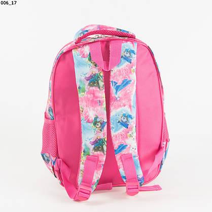Оптом школьный/прогулочный рюкзак для девочек с супергероями - розовый - 17-006, фото 3