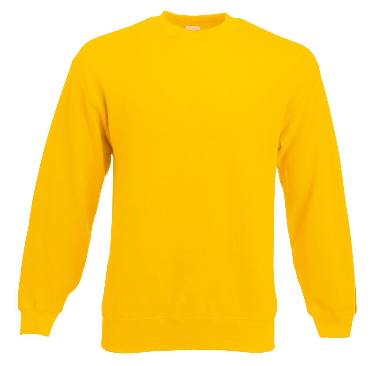 Мужской классический свитер Солнечно-жёлтый Fruit Of The Loom 62-202-34 M