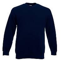 Мужской классический свитер Глубокий Тёмно-синий Fruit Of The Loom 62-202-AZ M