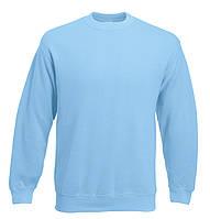 Мужской классический свитер Небесно-голубой  Fruit Of The Loom 62-202-YT M, фото 1