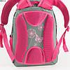 Оптом качественный школьный рюкзак для девочек с цветами - серый - 6617, фото 2