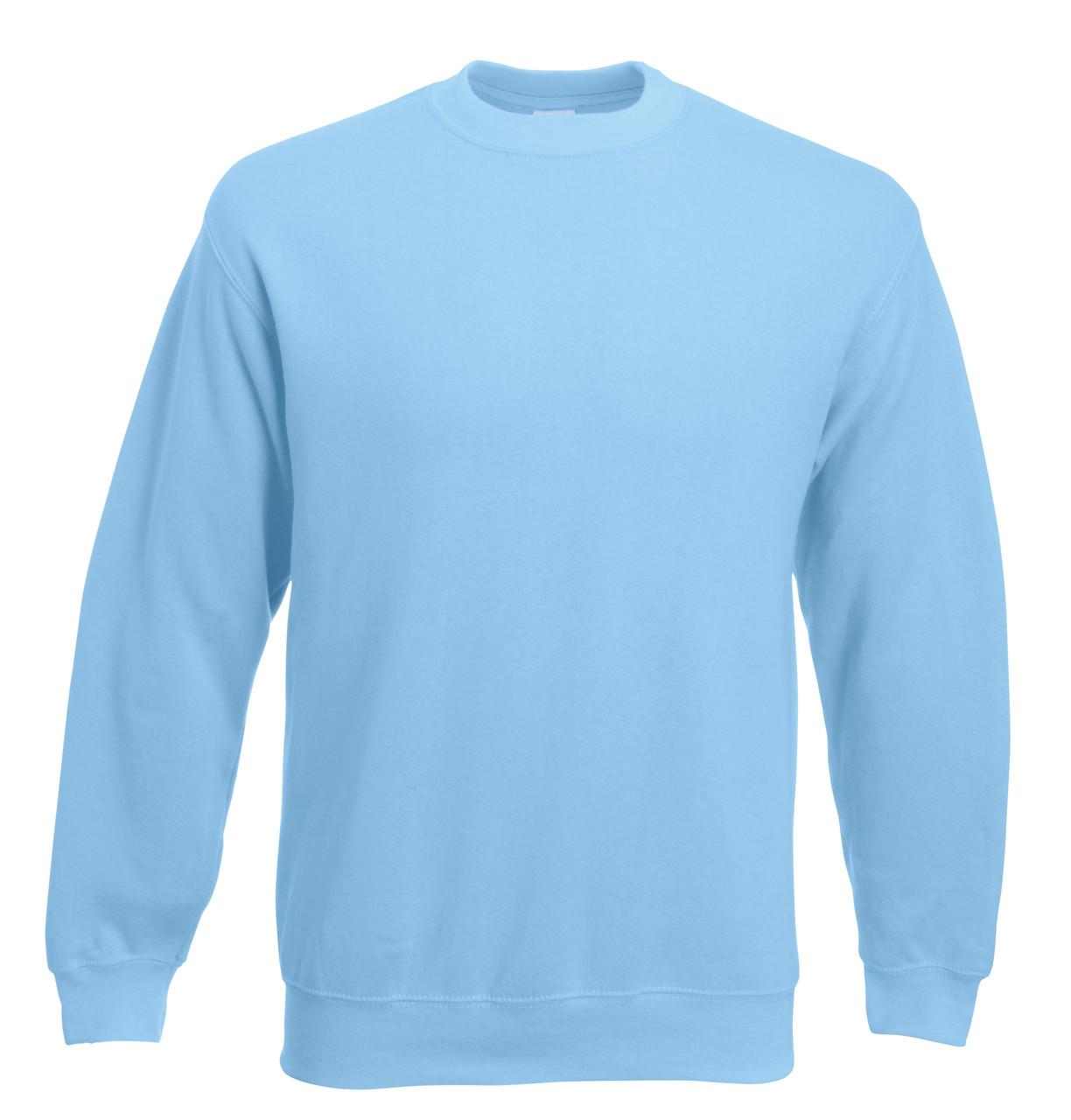 Мужской классический свитер Небесно-голубой  Fruit Of The Loom 62-202-YT  L