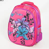 Оптом школьный рюкзак для девочки с жесткой спинкой - розовый - BN5, фото 1