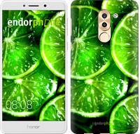 """Чехол на Huawei Honor 6X Зелёные дольки лимона """"852c-460-601"""""""