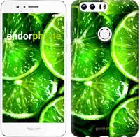 """Чехол на Huawei Honor 8 Зелёные дольки лимона """"852c-351-601"""""""