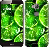 """Чехол на Huawei G8 Зелёные дольки лимона """"852c-493-601"""""""