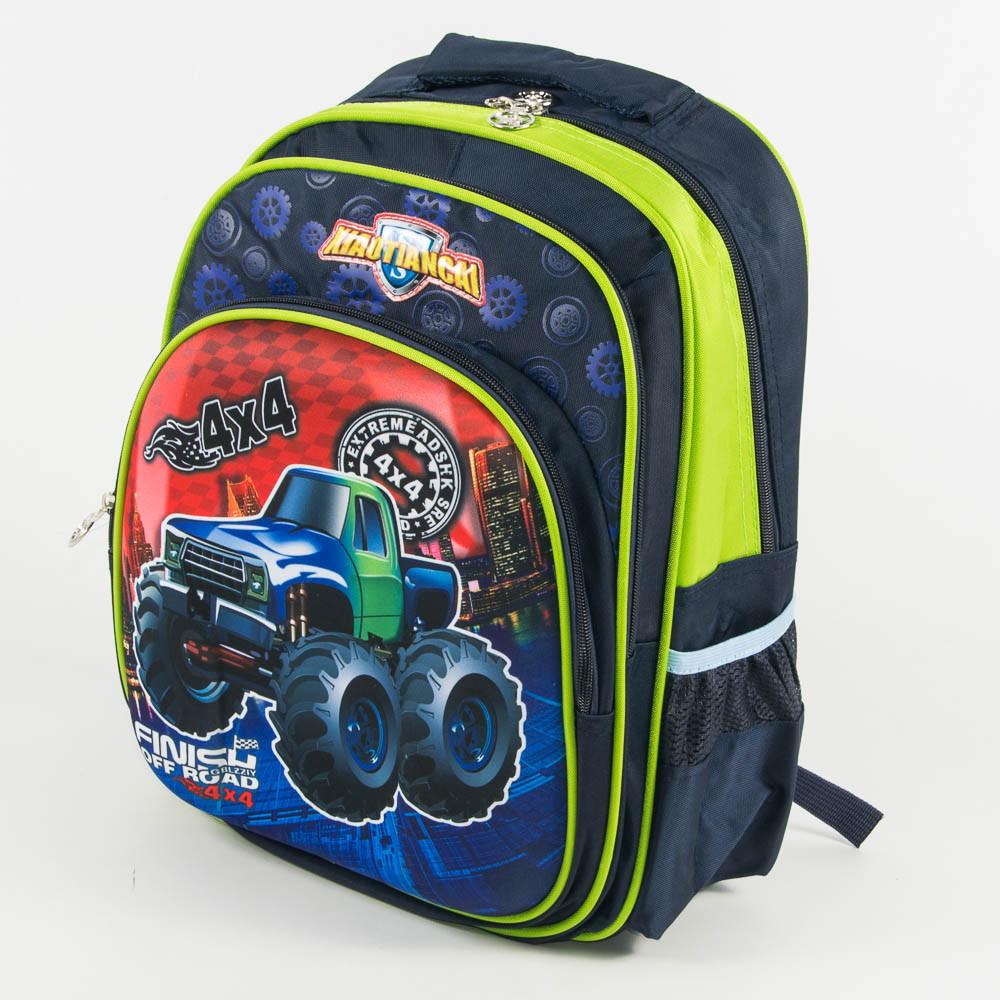 Оптом школьный рюкзак для мальчика с 3D рисунком и жесткой спинкой - синий - 11-0130