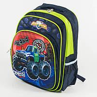 Оптом школьный рюкзак для мальчика с 3D рисунком и жесткой спинкой - синий - 11-0130, фото 1