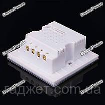 Сенсорный трехлинейный  выключатель (цветы ) белого цвета. Выключатель, фото 3