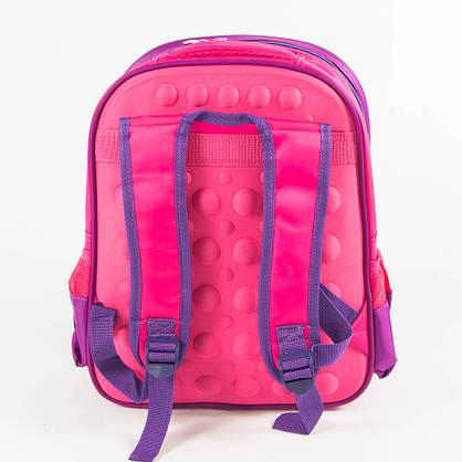 Оптом школьный рюкзак для девочки с жесткой спинкой - розовый - 11-3664, фото 3