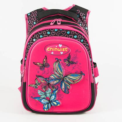 Оптом школьный рюкзак для девочки с ортопедической спинкой - розовый - Y032, фото 2