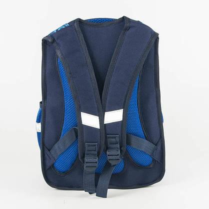 Оптом школьный рюкзак для мальчика с ортопедической спинкой машинка - синий - Y032, фото 3