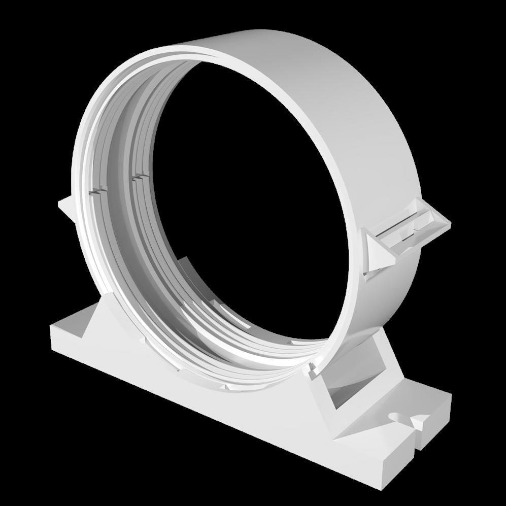 З'єднувач ексцентриковий круглих повітроводів D100/125 мм, шт