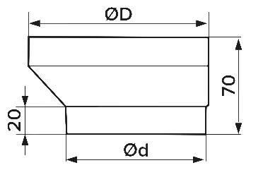 З'єднувач ексцентриковий круглих повітроводів D100/125 мм, шт, фото 2