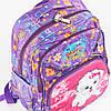 Оптом школьный рюкзак для девочек с ортопедической спинкой с собачкой - сиреневый - 31-Y020-1, фото 3