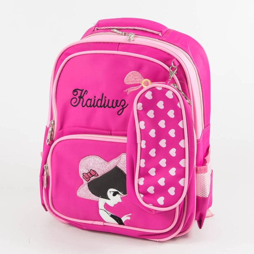 Оптом школьный/прогулочный рюкзак для девочек - розовый - 11-889, фото 2