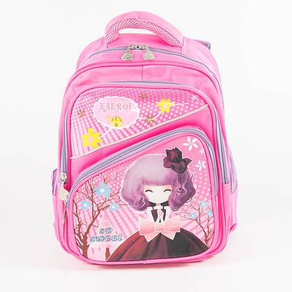Оптом школьный/прогулочный рюкзак для девочек - розовый - 14-1713, фото 2