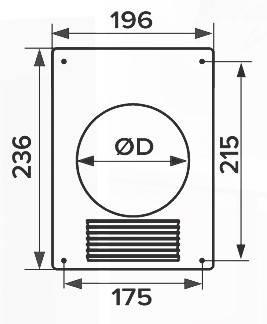 Площадка торцевая металлическая 197х237 с решеткой, фланец D110 мм, шт, фото 2