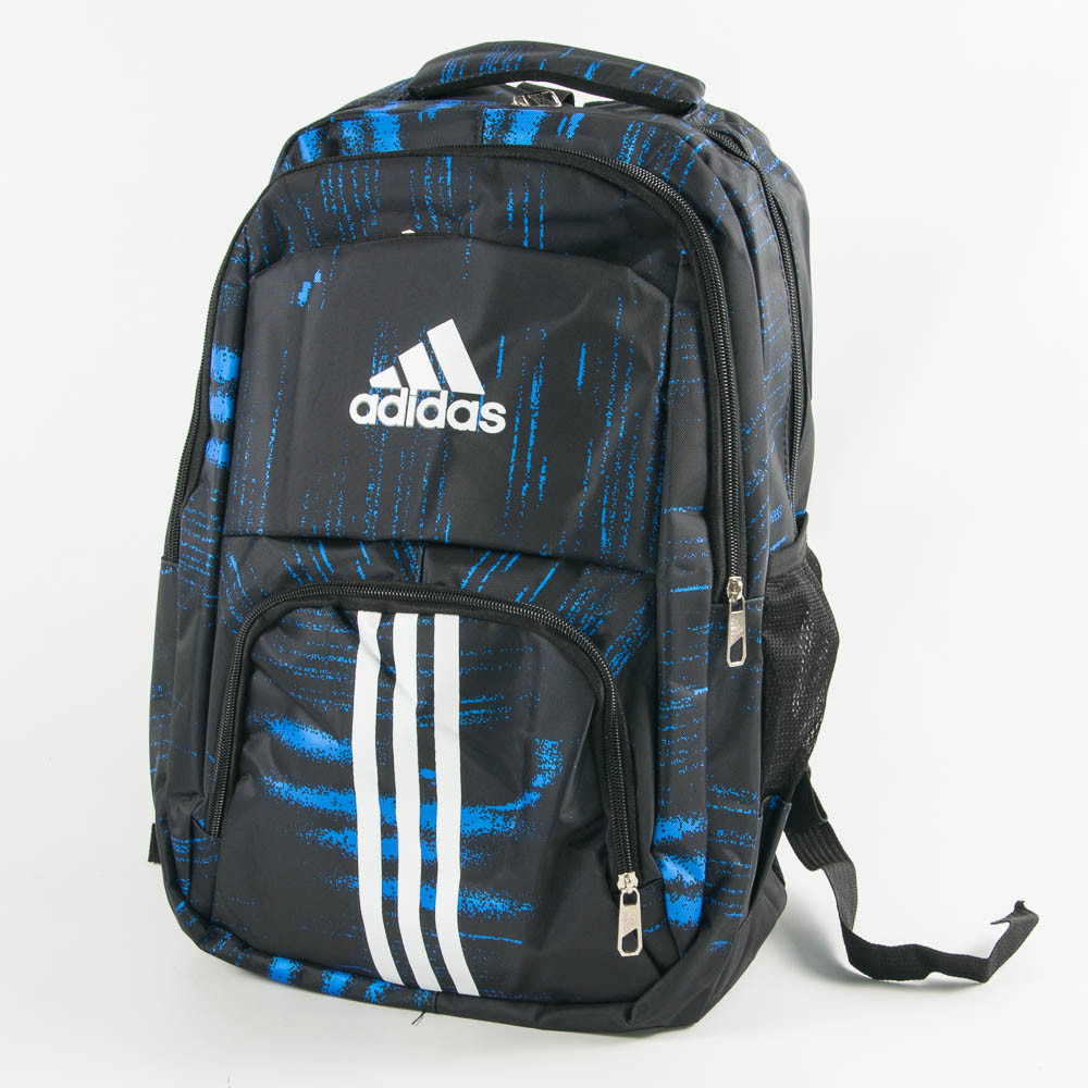 Оптом рюкзак спортивный Адидас (Adidas) - черно-синий - adi9-1