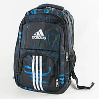 Оптом рюкзак спортивный Адидас (Adidas) - черно-синий - adi9-1, фото 1
