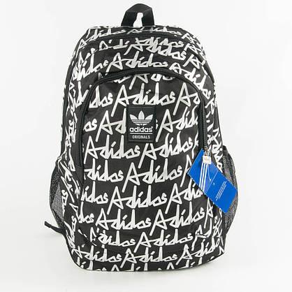 Оптом спортивний рюкзак Адідас - чорний - 0013, фото 2