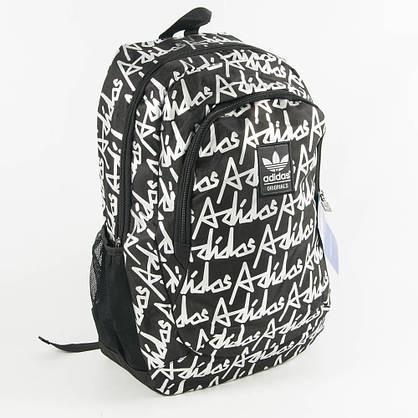 Оптом спортивний рюкзак Адідас - чорний - 0013, фото 3