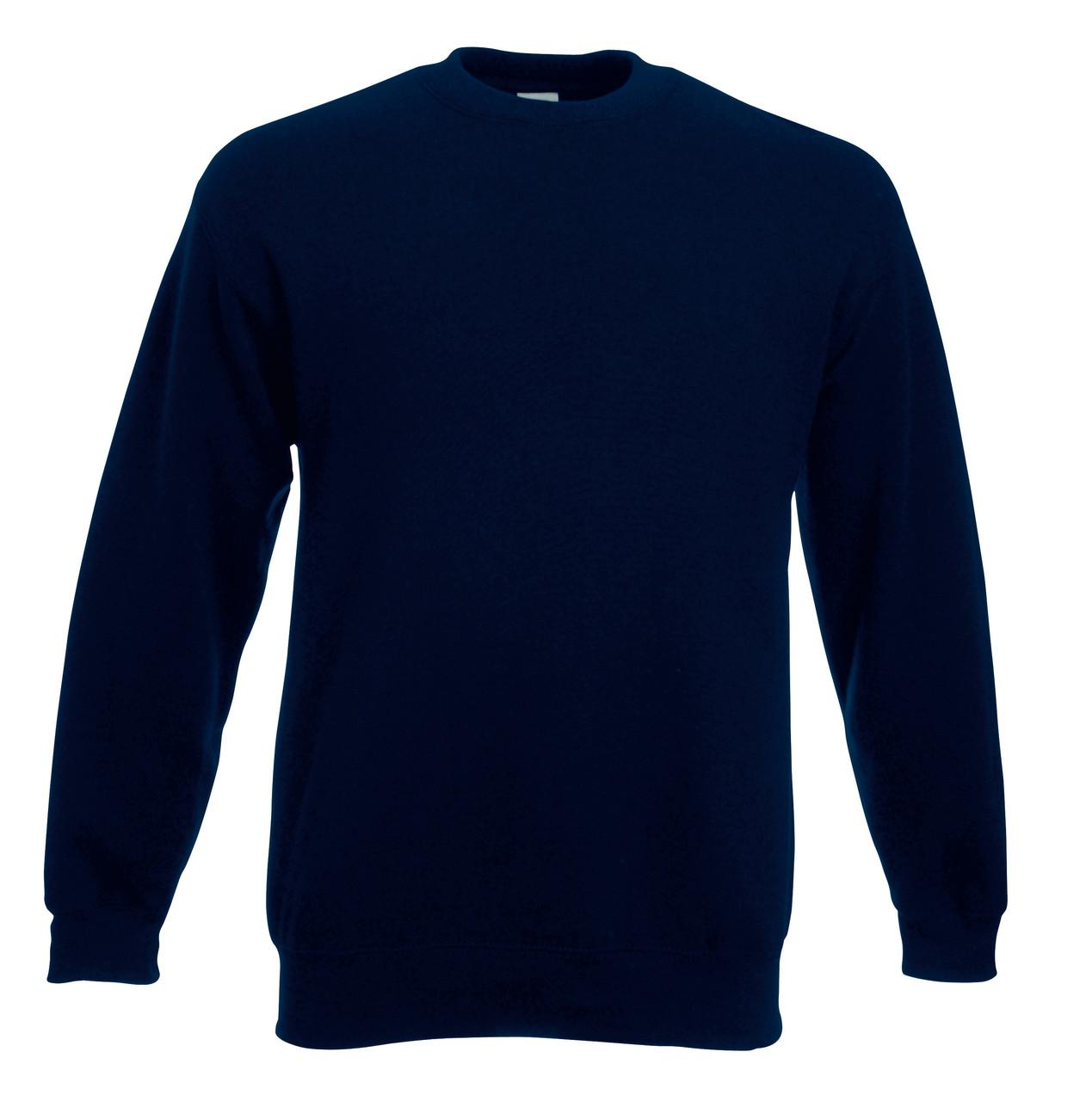 Мужской классический свитер Глубокий Тёмно-синий Fruit Of The Loom 62-202-AZ Xl